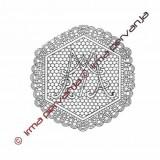 501102 - Mary's monogram - 21 cm