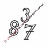 508401 - Número 1 - 5 cm