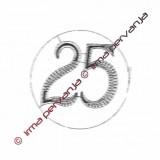 503325 - Numero 25 - 8,5 cm
