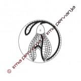 130204 - Motivo inserto en círculo - 7 cm