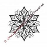 127604 - Snežinka - 13 cm