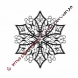 127604 - Snowflake - 13 cm