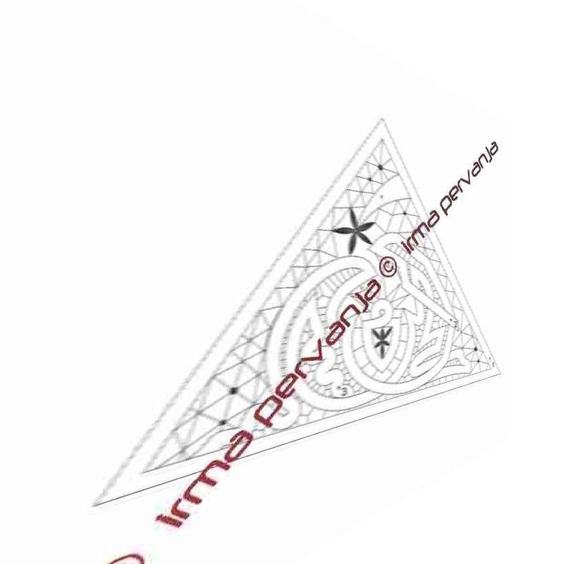 509601 - Jaslice za trikotni svečnik - 25 x 35,5 cm