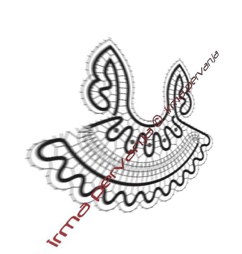 139304 - Vzorec za angelčka  - višina 6,5 cm