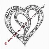 409908 - Patrón de corazón - 27 cm