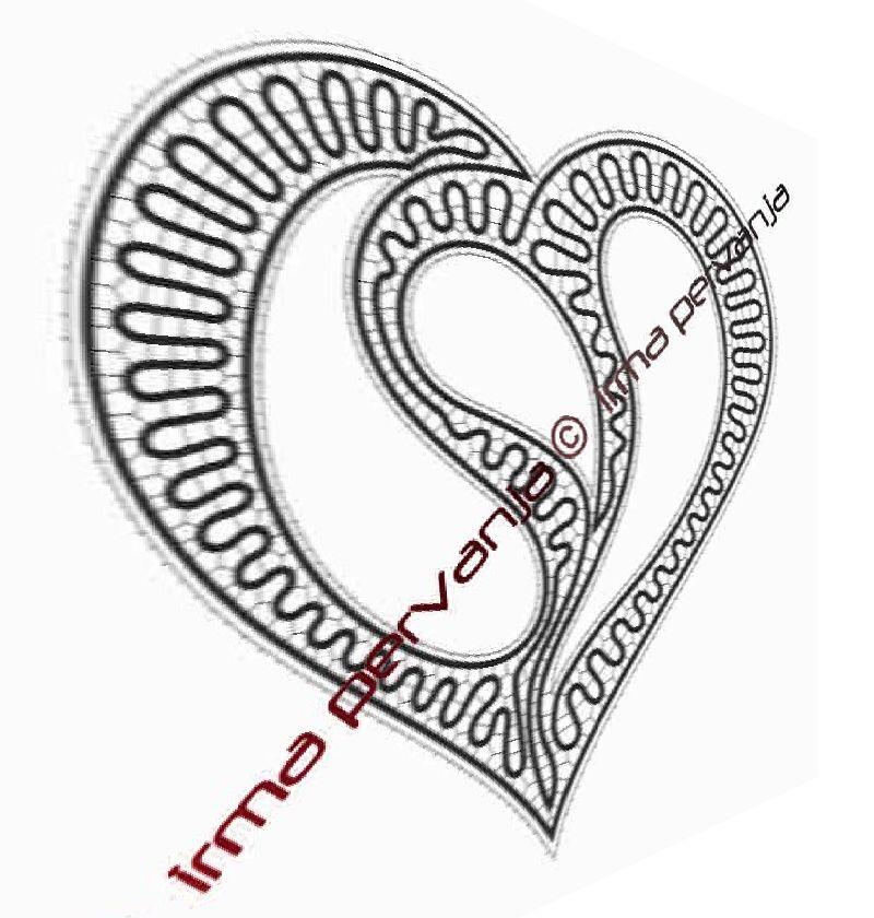 409908 - Pattern for heart - 27 cm