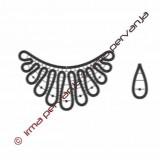 129501 - Collar y pendientes - 9 cm, 3,5 cm
