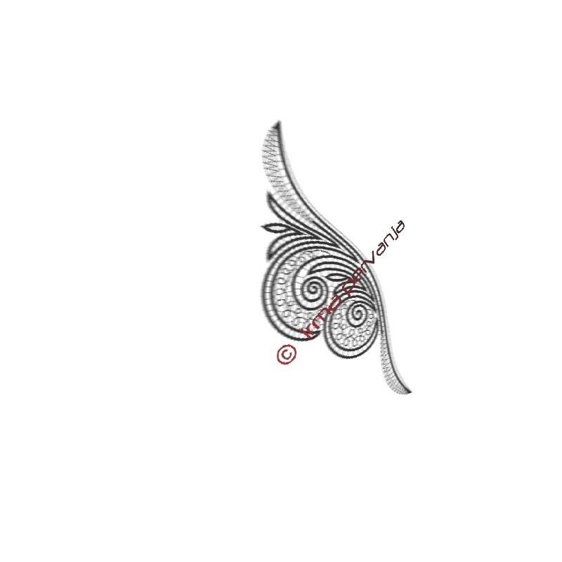 305403 - Ende Schal - 27 cm