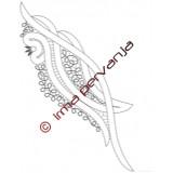 305404 - Fin de la bufanda - 28 cm