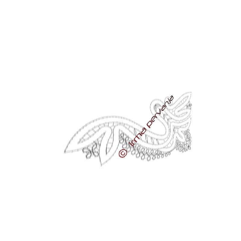305406 - Fine della sciarpa - 24,5 cm