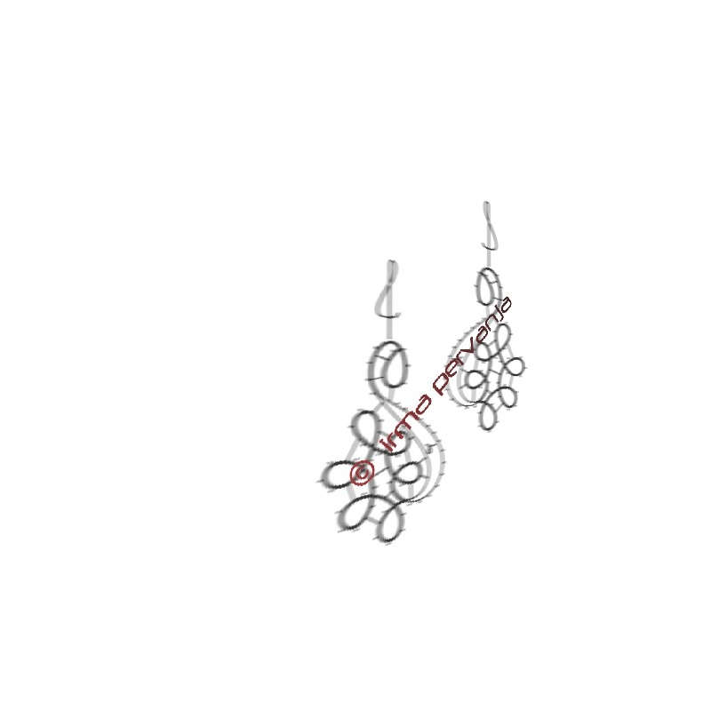 141902 - Pattern for earrings - 5 cm