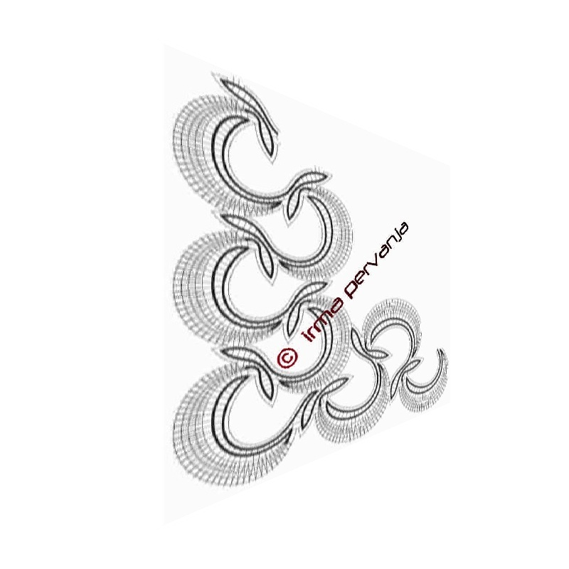 417602 - Vzorec za vogal za metrsko čipko