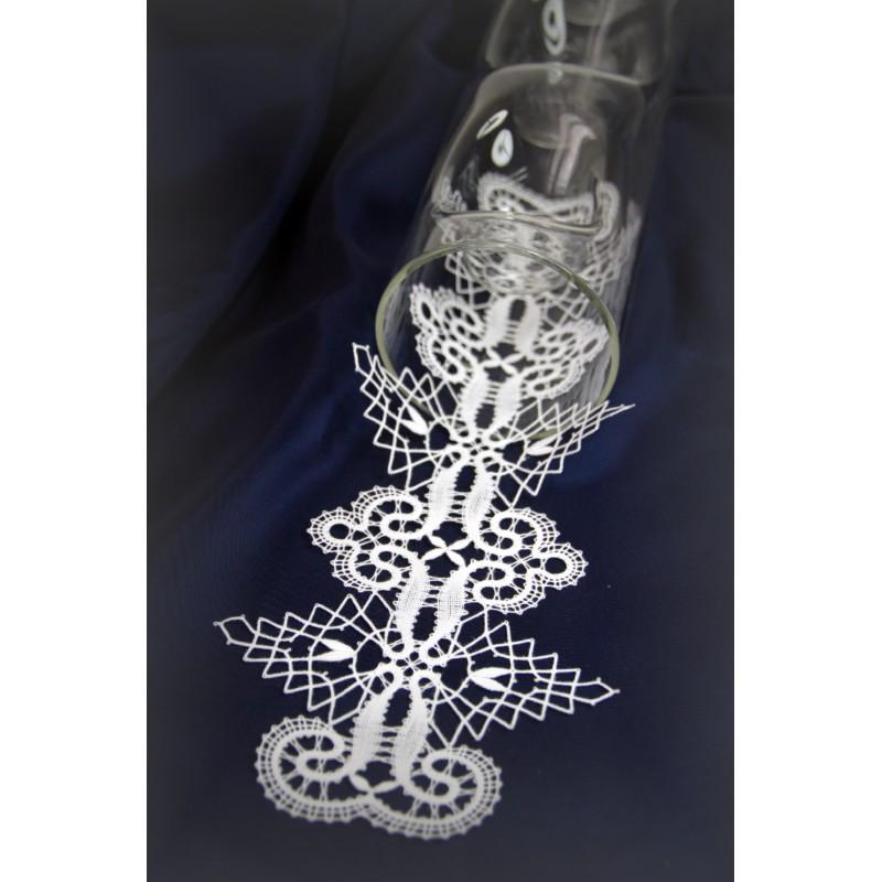 416702 - Muster für Kerzenhalter Deckchen 12 x 30 cm