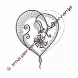 509301 - Poročni srček - 20 cm