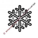 127602 - Snowflake - 10 cm
