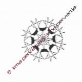 118301 - Snowflake - 6 cm