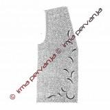 303501 - Brezrokavnik - 2x - 1/2 sprednjega dela - 29 x 65 cm
